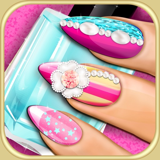 Fancy Manicure Salon Decoration: Nail Makeover 3D Beauty Salon: DIY Fancy Nails Spa