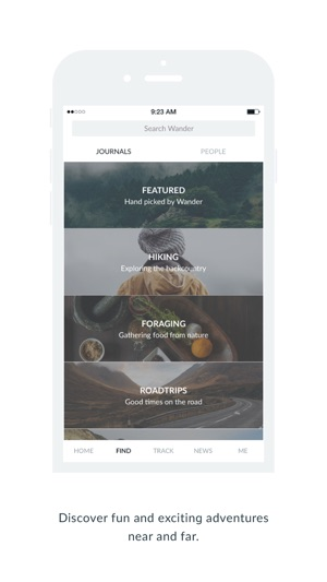 Wander Co – Location-based Photo Journals Screenshot