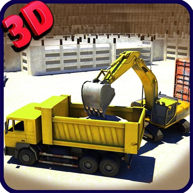 excavatrice simulateur 3d conduire lourde grue de construction d 39 un jeu de simulation de. Black Bedroom Furniture Sets. Home Design Ideas