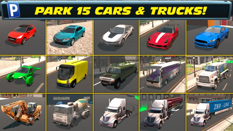 Trailer Truck Parking with Real City Traffic Car Driving Sim screenshot-3