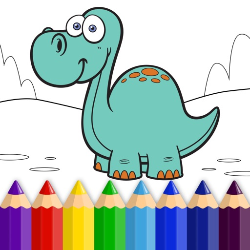 Dinosaur World - Coloring Book for Little Boys, Little Girls and Kids