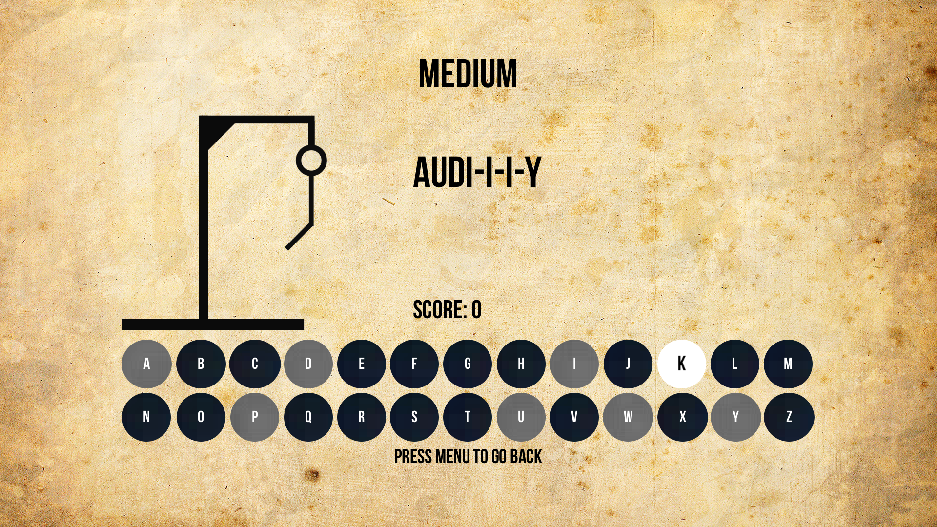 Hangman - A Vocabulary Game screenshot 2