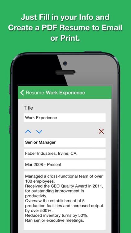 Smart Resume Pro: Resume and CV Designer screenshot-3