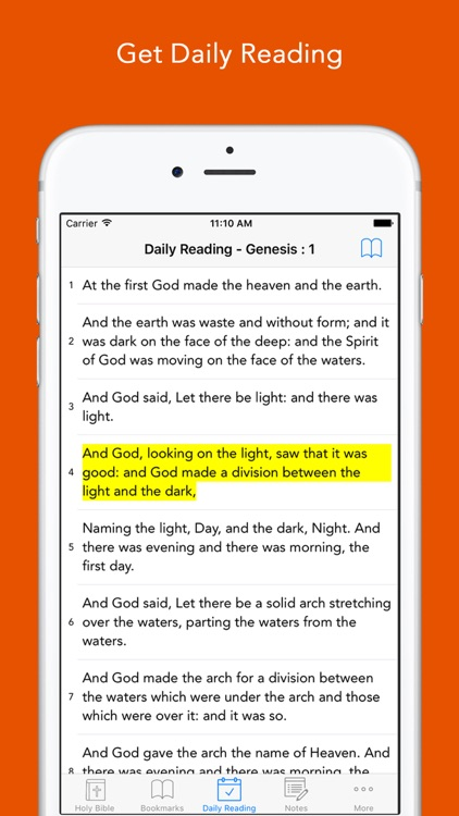 Daily Bible: Easy to read, Simple, offline, free Bible Book in English for daily bible inspirational readings screenshot-3