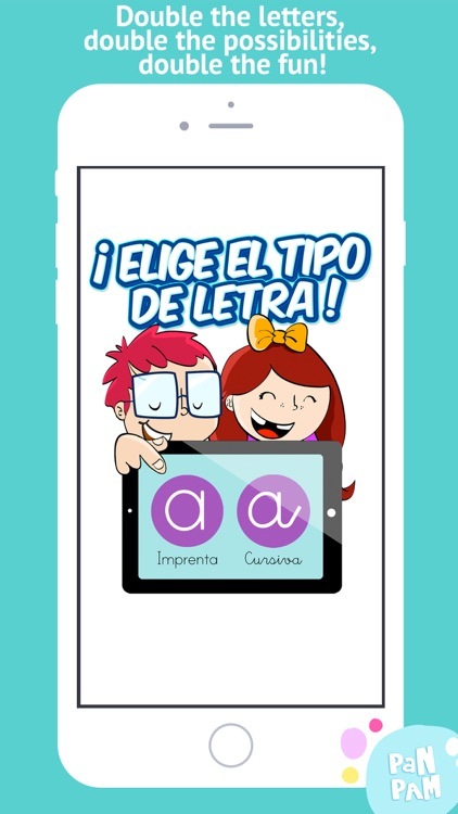 Learn to read and write the vowels in Spanish - Preschool learning games - iPhone screenshot-0