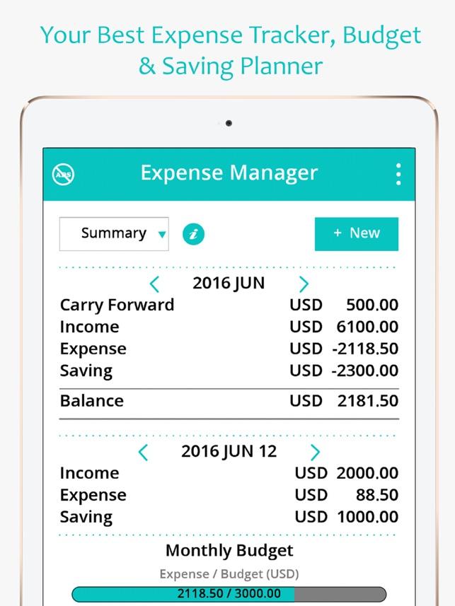 money expense manager spending saving planner on the app store