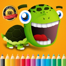 The Turtle Cartoon Paint and Coloring Book Learning Skill - Fun Games Free For Kids