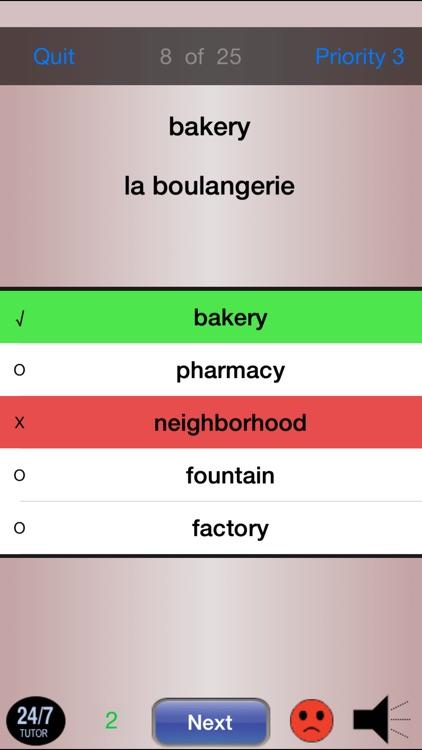 French Vocabulary 24/7 Language Learning screenshot-3