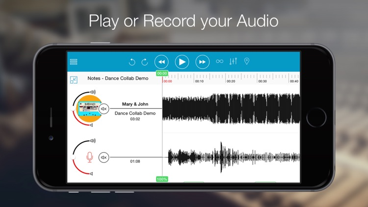 Notetracks - a collaborative platform to review, record and share your music ideas. screenshot-0