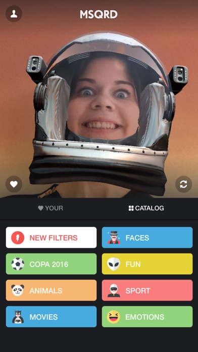 MSQRD — 自撮りビデオ用のライブフィルターとフェイススワップのおすすめ画像3