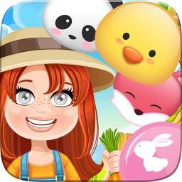Happy Farm Crush Forest Challenge - Addictive Swap Match 3 Animals Fun Puzzles Games Free