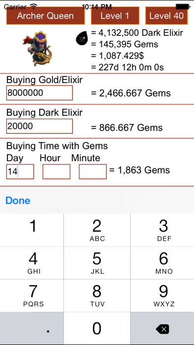 Free Gems Guide Calculator for Clash Of Clans - Coc & Xmod
