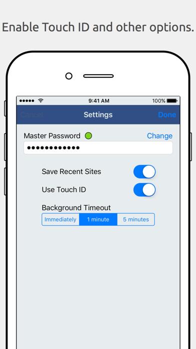UberGenPass screenshot one