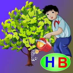 Three pupils planting a tree (story and game for kids)