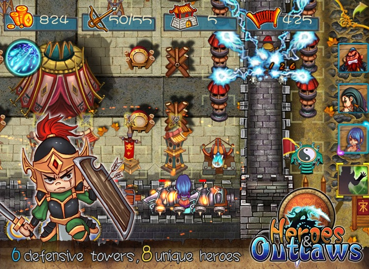 HeroesOutlaws HD: An epic tower defence adventure screenshot-3