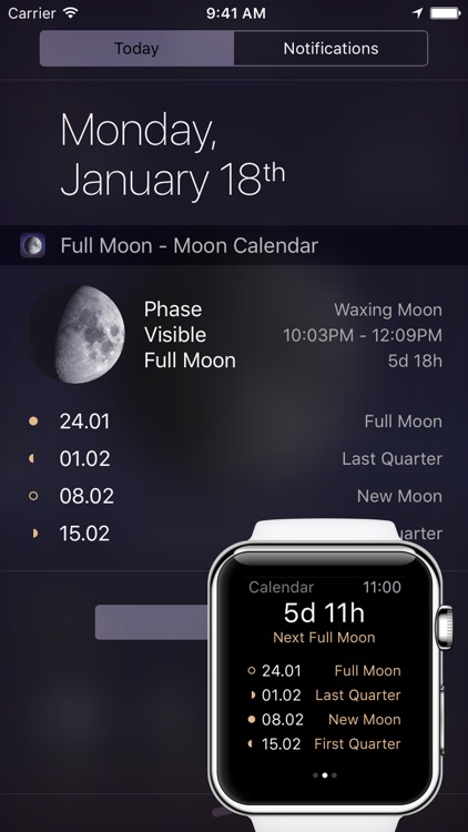 Full Moon - Moon Phase Calendar and Lunar Calendar screenshot-4
