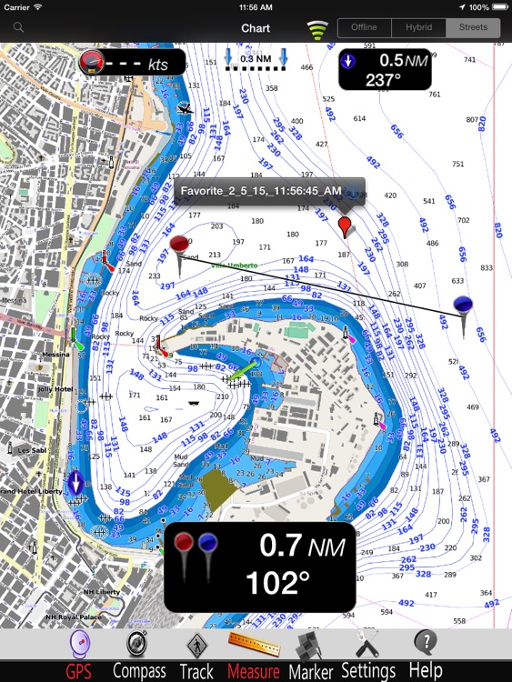 Calabria Nautical Charts Pro screenshot-2