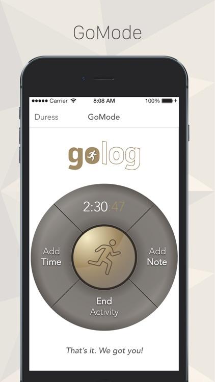 GoLog - Activity Safety Timer screenshot-3