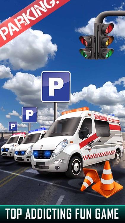 City Ambulance Parking Simulator - Test Your Driving Skill on Emergency Vehicle