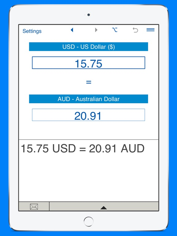 Screenshot 2 For Us Dollars To Australian Converter