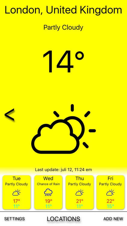 Yellow rain - Weather forecast screenshot-1