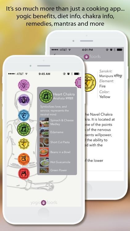 YogicFoods - Vegetarian recipes to detox your body and balance your chakras using Kundalini yoga screenshot-3