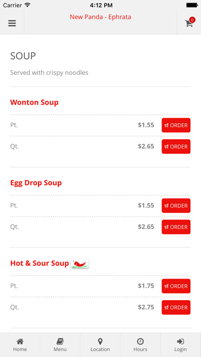 New Panda - Ephrata Online Ordering screenshot three