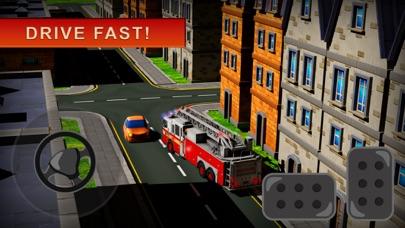 119 消防卡車模擬器 3D - 消防員值班屏幕截圖2