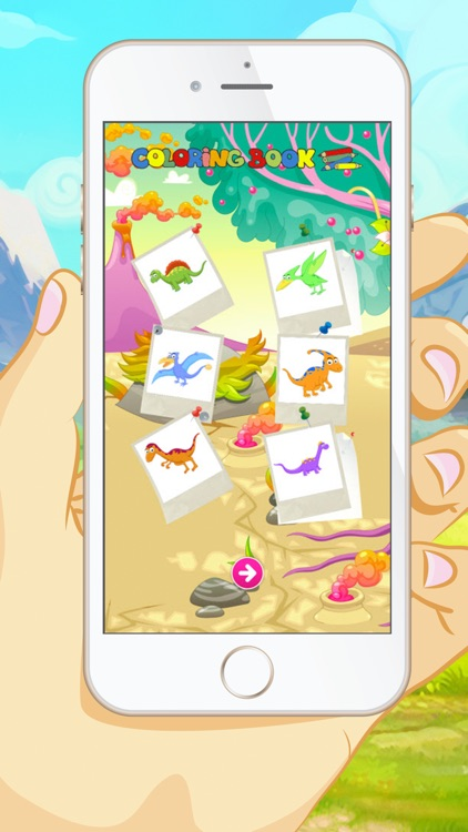 Dinosaur Coloring Book -  Educational Color and  Paint Games Free For kids and Toddlers screenshot-3