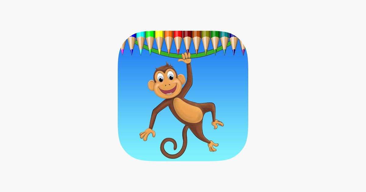 Maymun Boyama Kitabi Renk Ogrenin Ve Bir Maymun Goril Ve Daha