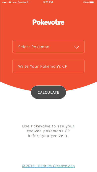 Pokevolve - Evolve Calculator For Pokemon GO by Yunus Bassahan (iOS