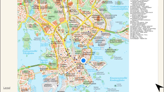 Map of Helsinki on the App Store