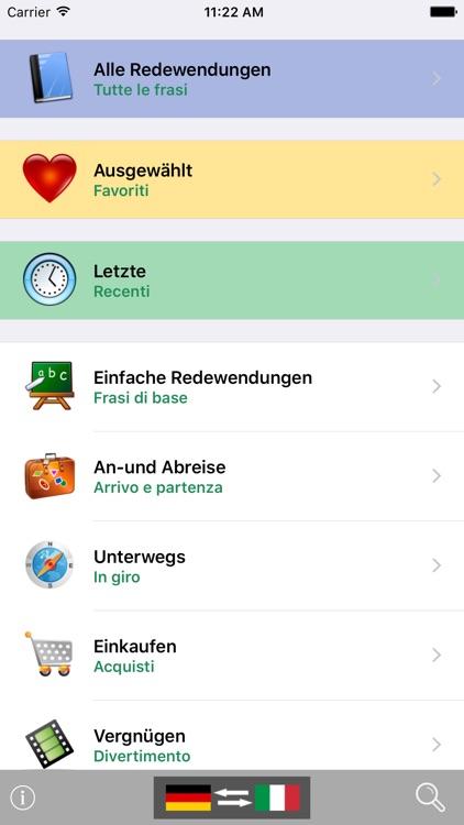 German / Italian Talking Phrasebook Translator Dictionary - Multiphrasebook screenshot-0