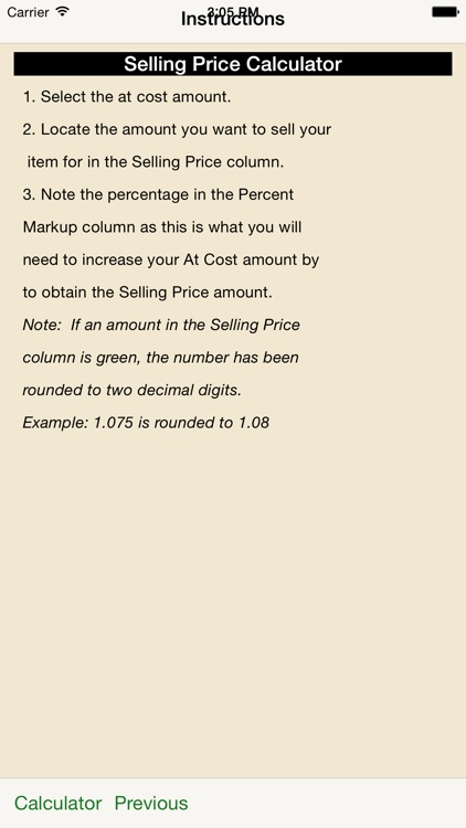selling price calculator by michelle kirk