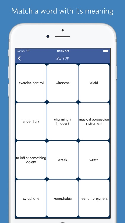 Educated Vocabulary List - quiz, flashcard and match game screenshot-4