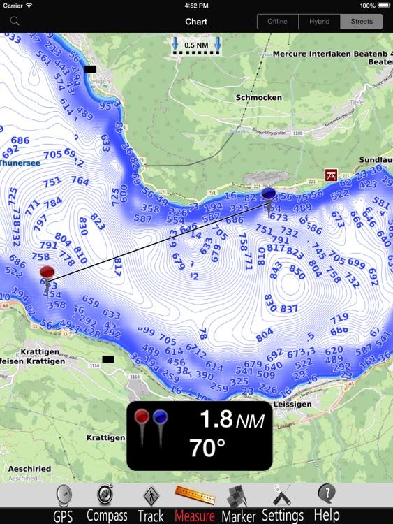 Thun - Brienz Lakes Charts Pro screenshot-3