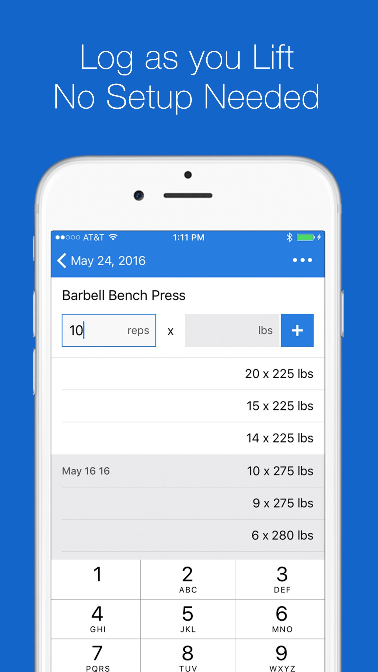 Liftium - Weight Lifting Screenshot