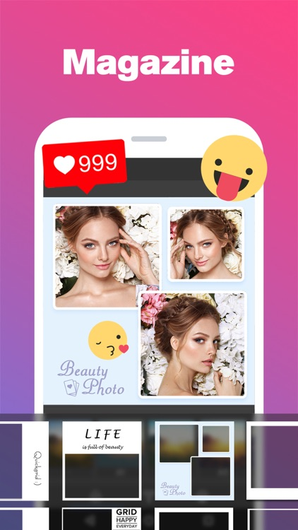 Quick Grid - Picture Collage & Beauty Poster Magazine & Photo Editor with Nice Layout and Funny Filters