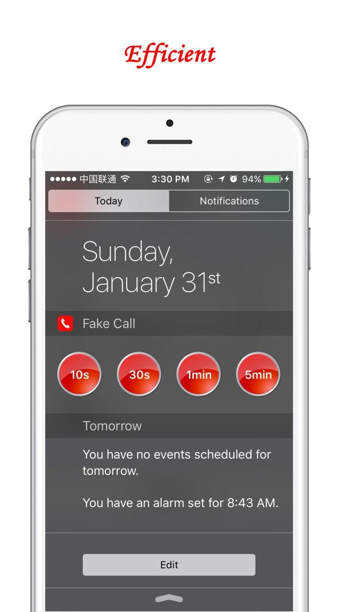 Fake Call Free -  Make your phone ring on demand Screenshot
