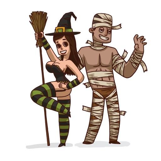 Sexy Halloween Stickers