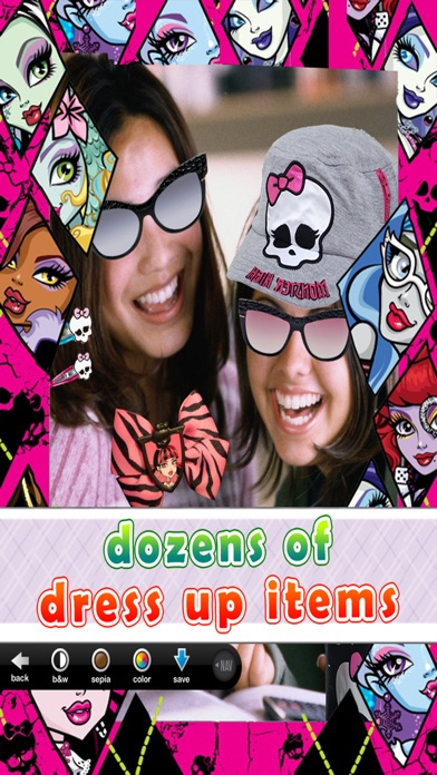 Monster-Mädchen Foto-automat: Ghul Dress up, Bilder-rahmen & Selfie EditorScreenshot von 2