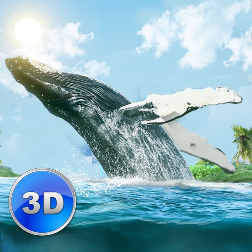 Big Blue Whale Survival 3D - Try whale simulator, be ocean animal! icon