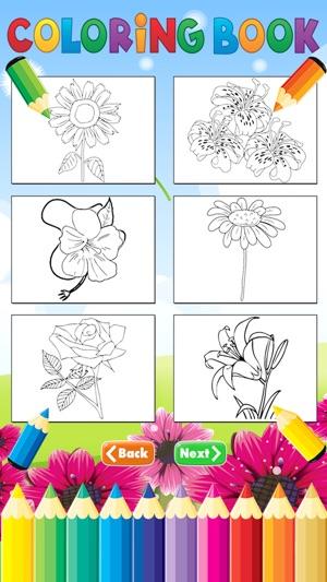 Flor Colorante Libro por Niño - Dibujo y pintura Relajación Alivio ...