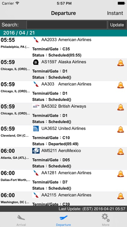 US New York LaGuardia Airport Flight Info