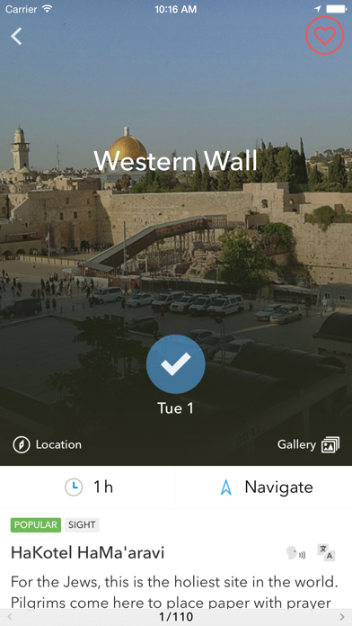 Middle East Trip Planner, Travel Guide & Offline City Map for Istanbul, Jerusalem or Tel Aviv Screenshot