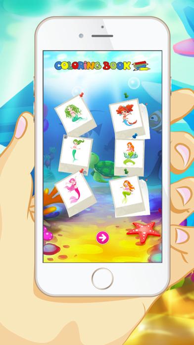 Mermaid Coloring Book - Educational Coloring Games For kids and Toddlers screenshot four