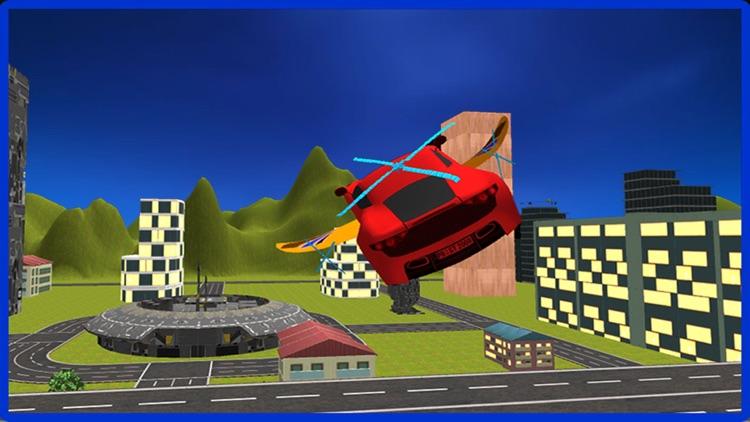 Flying Car Racing Police Chase – Futuristic Flying thief escape Simulator screenshot-3