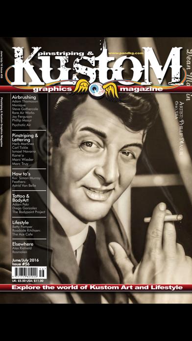 Pinstriping & Kustom Graphics Magazine screenshot one