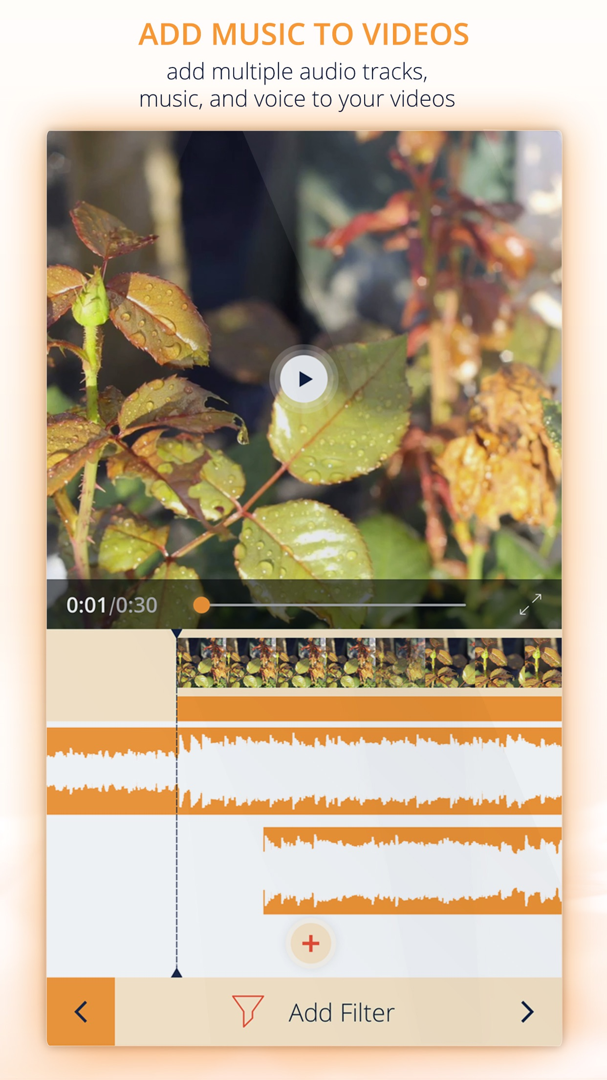 InstaVideo Editor - Trim & Add music to videos Screenshot