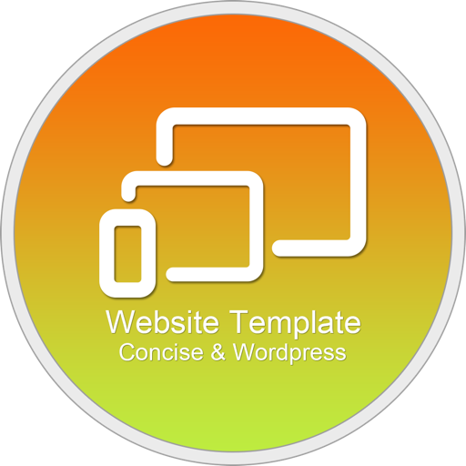 Website Template(Concise&Wordpress) With Html Files Pack8
